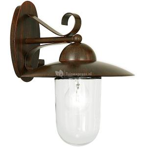 Milton antiekbruin wandlamp