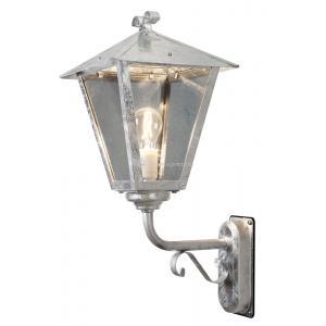Wandlamp Benu met rookkleurig glas opwaarts