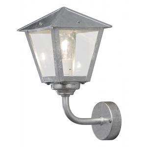Wandlamp Benu met transparant glas opwaarts