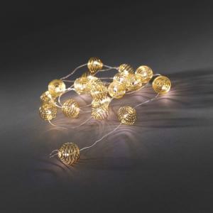 LED deco lichtsnoer metaalballen goudkleurig