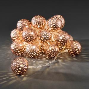 LED deco lichtsnoer bronzen metalen ballen