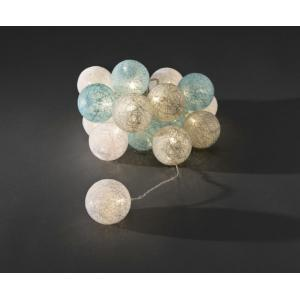 LED cotton balls lichtsnoer nature 6cm