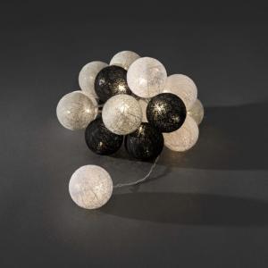 LED cotton balls lichtsnoer monochrome 6cm