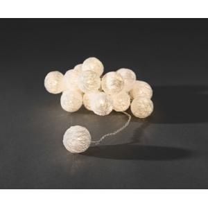 LED cotton balls lichtsnoer wit 3.5cm