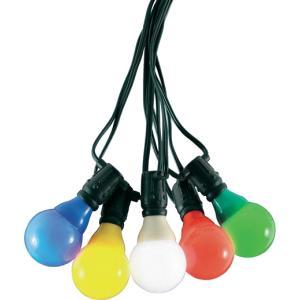 LED feestverlichting met gekleurde e14 kogellampen