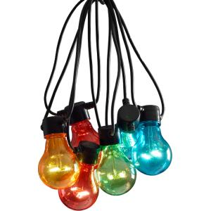 LED feestverlichting met gekleurde lampen